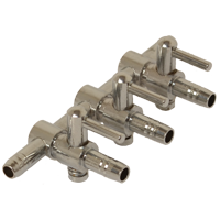3 way steel manifold